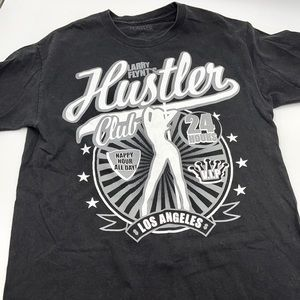 HUSTLER CLUB LOS ANGELES men's black t-shirt Large